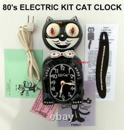 1980s-ELECTRIC-KIT CAT KLOCK-KAT CLOCK ORIGINAL MOTOR REBUILT-VINTAGE-BEAUTY