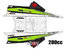 2018 Arctic Cat Zr 120 200 Graphics Kit Deco Wrap Décor Zr200 Zr120 Decals Senge