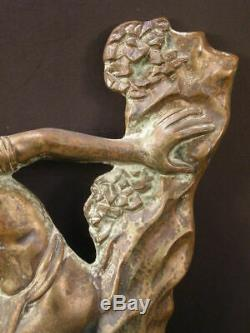 30's Art Deco Bronze Sculpture African Nude Boy France Onyx Lion Cat Figure