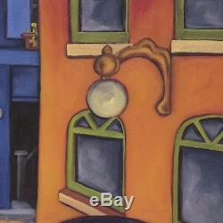 32Wx24H JAZZ CAT ALLEY II by WILL RAFUSE MUSICIANS PLAYING PIANO CELLO CANVAS