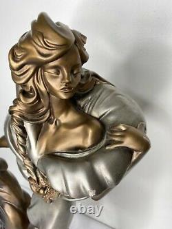 Alexander Danel Sculpture Art Deco Woman Cat Austin Productions Feline Mystique