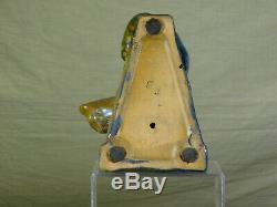 Alphonse Cytere Rambervillers c1931 Iridescent Lustre Glaze Art Pottery Cat SGND