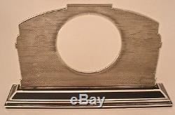 Amazing Austrian Art Deco 935 Sterling Enameled Cat Watch Or Clock Holder 1920