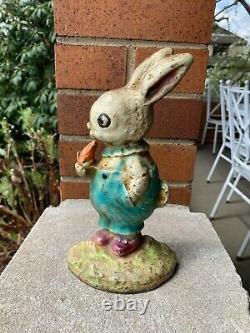 Antique Hubley Cat. #86 Cast Iron Peter Rabbit Doorstop