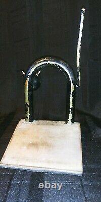 Antique WALTER VON NESSEN Doorstop CAT MCM Rare