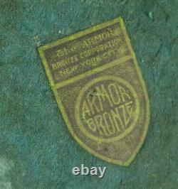 Armor Bronze Co Ny Art Deco Bronze Clad Cat Bookends Original Label Freeship
