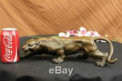 Art Deco Barye Bronze Cheetah Statue Big Cat Leopard Feline Panther Lion Deal
