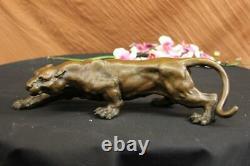 Art Deco Barye Bronze Cheetah Statue Big Cat Leopard Feline Panther Lion Jaguar