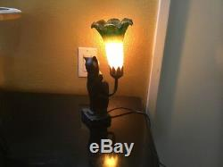 Art Deco Black Cat 11 Desktop Sculptural Table Lamp