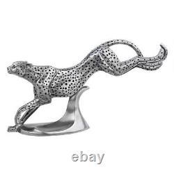 Art Deco Cheetah in Motion Sculpture Wild Cat Statue
