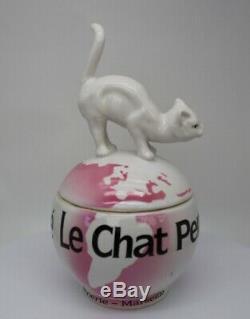 Art Deco Style Box Jewelry Figurine Powder Box Cat Wildlife Art Nouveau Style Po