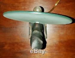 Art Deco Style Frankart like Cat Table Lamp Black Cat in front of glass sphere