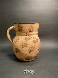Authentic Kentucky Cats Paw Stoneware Pitcher Bell City Pottery Handmade Pre1940