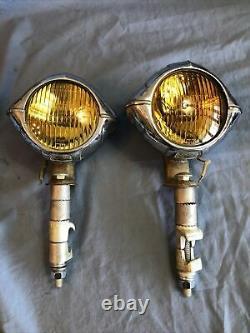 B. L. C. B-L-C 4 1/2 Alien Cats Eye Art Deco Guide Fog Driving Lights Rat Rod