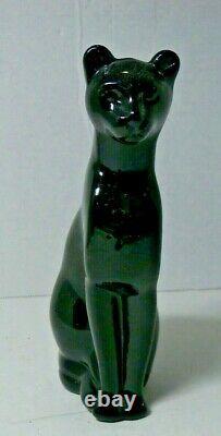 Baccarat Crystal Black Cat 6 Figurine Made France