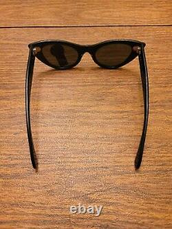 Bausch & Lomb Ray Ban Lisbon W0959 USA Cats Black Frame with Case Vtg B&L New