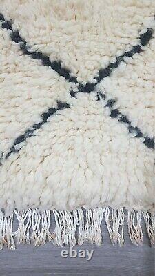 Beni Ourain Rug Vintage Authentic Berber Carpet Moroccan Handmade Rug Wool Rug