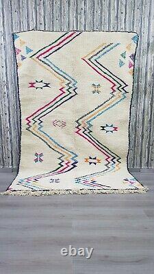 Beni Ourain Rugs Vintage Authentic Berber Carpet Moroccan Handmade Rug Wool Rug