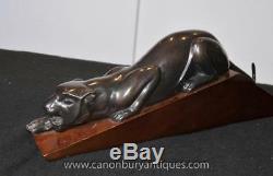 Bronze Art Deco Panther Cat Statue Casting