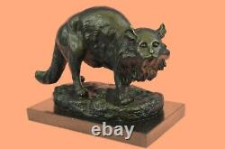Bronze Sculpture by Jonchery Cat Gato Feline Pet Animal Art Deco Statue Figurine