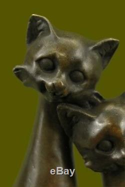 Bronze Sculpture by Milo Cat Gato Feline Pet Animal Art Deco Statue Figurine
