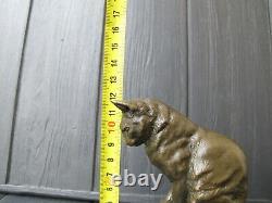 CAT KITTEN BRONZE sculpture Art Deco bronze