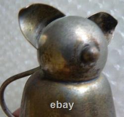 CAT METAL ART DECO BELL JIGGER ANTIQUE VINTAGE BARWARE NAPIER FAT CAT neocurio