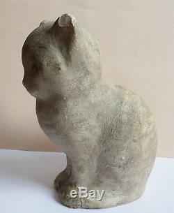 CHAT chaton statue statuette de Félix FEVOLA (1882-1953) Art Deco vers 1930 cat