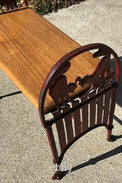 Cast Iron Cat Bench Halloween Art Deco