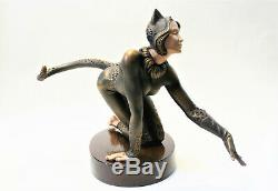 Cat & Mouse Sculpture Original Author's Sculpture Worldwide Shipping
