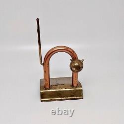 Chase Brass Manufacturing Machine Age Art Deco Cat Doorstop by Walter Von Nessen