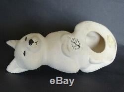 Chat céramique crispée Vinsare Sèvres Art déco-Cat sculpture ceramic Sèvres