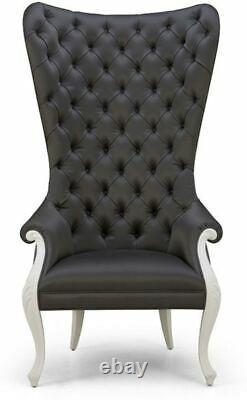 Christopher Guy Elysées High Back Diamond Tufted Chair Black & White (Set Of 2)