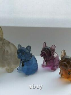 Collection of Six Czech Glass Vintage/Antique Dog/Cat Charm/Cracker Prize
