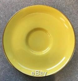 Copeland's Spode Rare Yellow Cup Saucer Black Cat Handle Early 1900s Antique