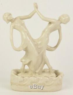 Cowan Pottery Duet Flower Frog Figure By R. Guy Cowan 7.5 Tall Shape 685