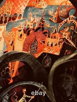 Dr Seuss Serigraph 33x28 Venetian Cat Singing Oh Solo Meow 229/375 Secret Art