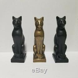 E F Eugenie Frederica Shonnard Bronze Cat Seated Egyptian Bast 1949 Santa Fe NM
