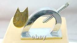 FAB Art Deco Figural Cat Nut Cracker Super Neat Chrome