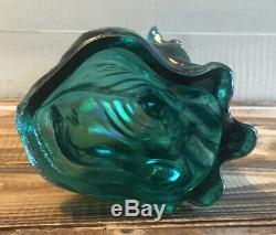 Fenton Alley Cat Art Glass Iridescent Carnival Deco 11 Tall