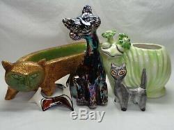 Fenton Alley Cat Art Glass Iridescent Carnival Deco Vtg Mcm Winking Smiley Kitty