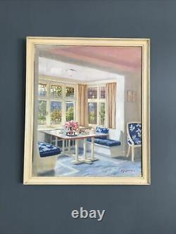 Guy Lipscombe Painting on Canvas for Ideal Home Art Deco Interior VGC
