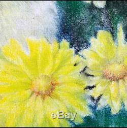 Hand Made Water Color On Paper Art Decoration Propylene Chrysanthem Cat Painting