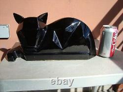 Hyalyn Pottery Art Deco Cubist Black Cat