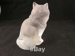 Lalique France Crystal Art Frosted Heggie Cat Standing
