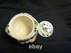 Lefton MISS PRISS Kitty Cat 5 Pc Tea Set-Teapot Creamer Sugar Bowl Lids PERFECT