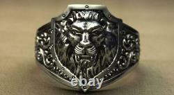 Lion ring Signet ring Signet lion ring Lion jewelry silver lion Animal ring Cat