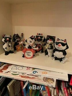 Lorna Bailey Jazz Band Cats set of 6