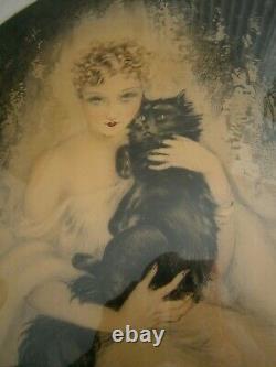 Louis Icart Elegant Choose Cat Fashion Woman Art Deco 1935 Proof Artist