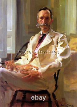 Man With The Cat Artist Painting Reproduction Handmade Oil Canvas Repro Art Deco